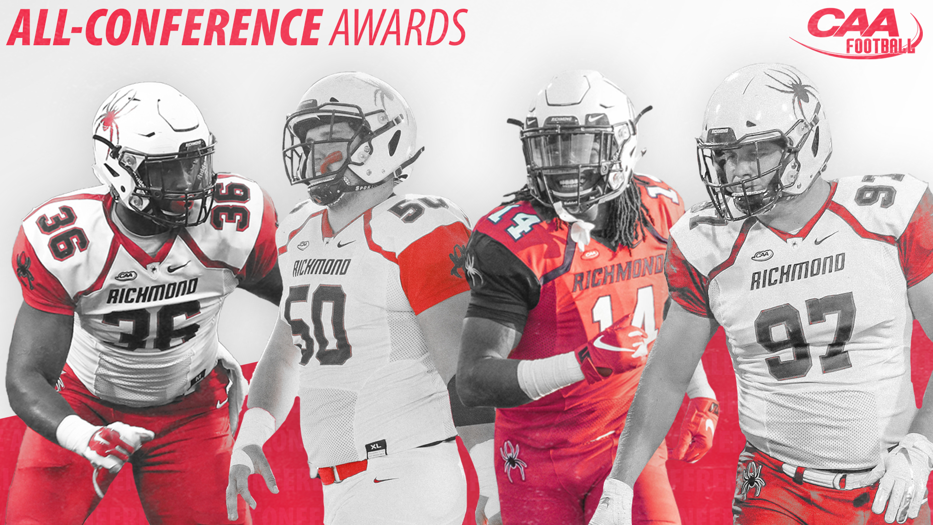 newest 66b58 b21ac Four Honored With All-Conference Honors For Football ...
